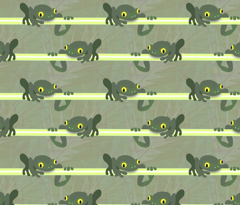 Frog Chorus fabric by cricketnoel on Spoonflower - custom fabric