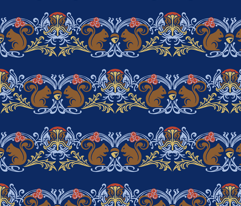 NouveauSquirrels fabric by eowens on Spoonflower - custom fabric