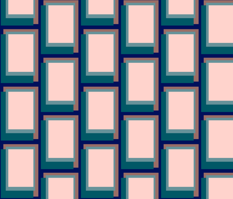 Golden Ratio - Teal Blush Blocks fabric by jazilla on Spoonflower - custom fabric