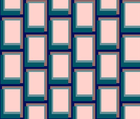 Golden Ratio - Teal Blush Blocks fabric by jazilla on Spoonflower - custom fabric