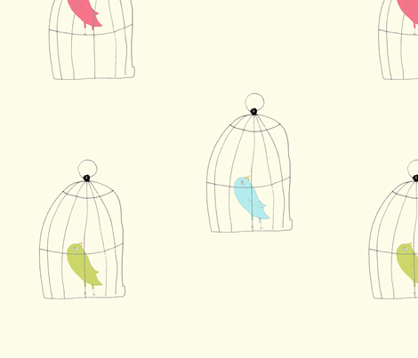 birdcages fabric by 5u5an on Spoonflower - custom fabric