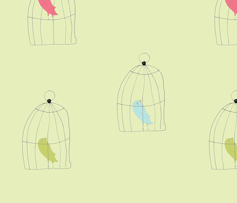 birdcages-ch fabric by 5u5an on Spoonflower - custom fabric