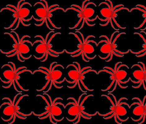 Jamjax Red Spiders Night fabric by jamjax on Spoonflower - custom fabric