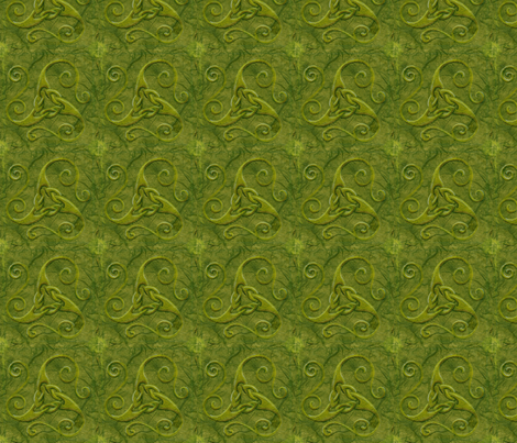 celt spiral 3 fabric by ingridthecrafty on Spoonflower - custom fabric