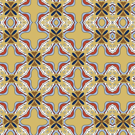 Art Nouveau Tile 1 fabric by vickijenkinsart on Spoonflower - custom fabric