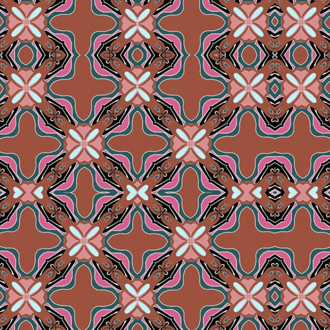 nouveau_tile_3b fabric by vickijenkinsart on Spoonflower - custom fabric