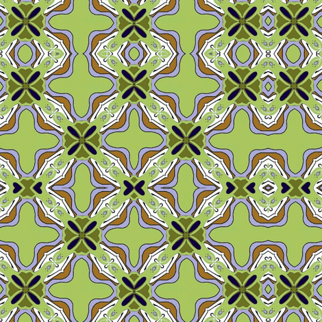 nouveau_tile_3c fabric by vickijenkinsart on Spoonflower - custom fabric