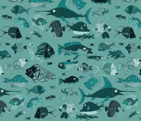 Something fishy! fabric by sheena_hisiro on Spoonflower - custom fabric