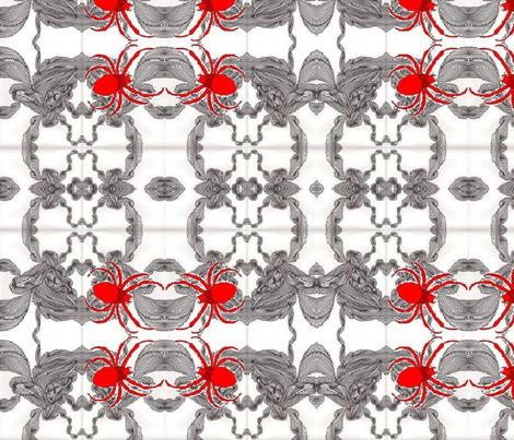 Jamjax  Spiders Spinning fabric by jamjax on Spoonflower - custom fabric