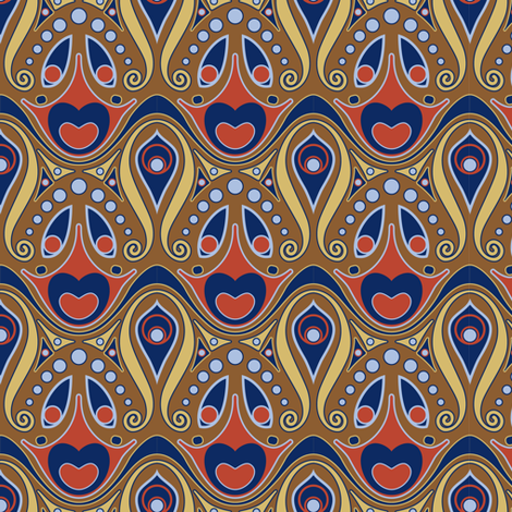 artnouveau1 fabric by mzdori on Spoonflower - custom fabric
