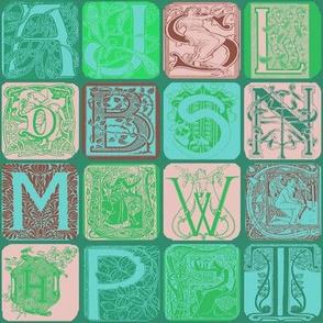 Art Nouveau Alphabet-3