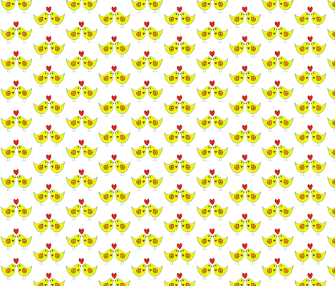 birds fabric by lissame73 on Spoonflower - custom fabric