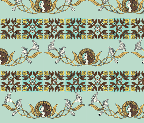 nouveau beauty fabric by mytinystar on Spoonflower - custom fabric