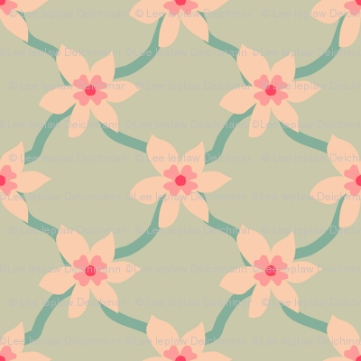 Pink Blossom Grid
