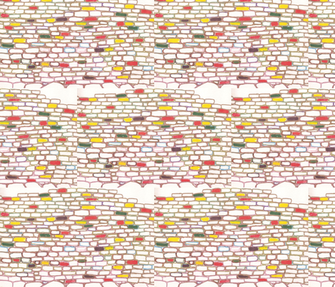 JamJax Brick Wall fabric by jamjax on Spoonflower - custom fabric