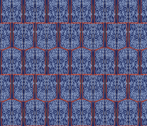 art nouveau fabric by heatherrothstyle on Spoonflower - custom fabric