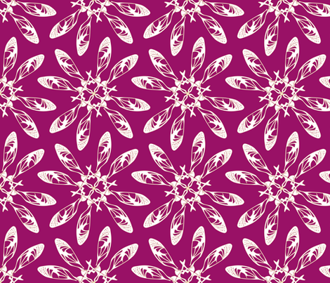seedflowella red fabric by maeula on Spoonflower - custom fabric