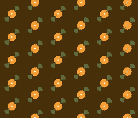 retro blooms fabric by winter on Spoonflower - custom fabric