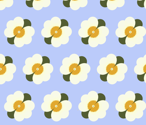 Strawberry Blossoms fabric by winter on Spoonflower - custom fabric