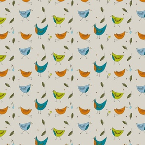 Fairytale Birds Bright Colourway