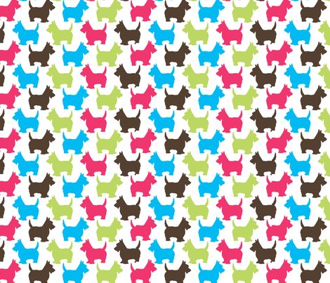 Scotties print fabric by malien00 on Spoonflower - custom fabric