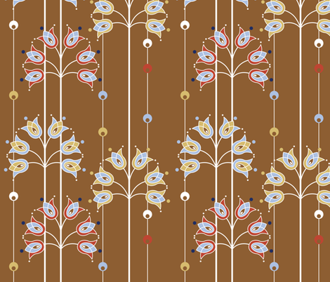 Art_Nouveau_Tulips fabric by cynthiafrenette on Spoonflower - custom fabric