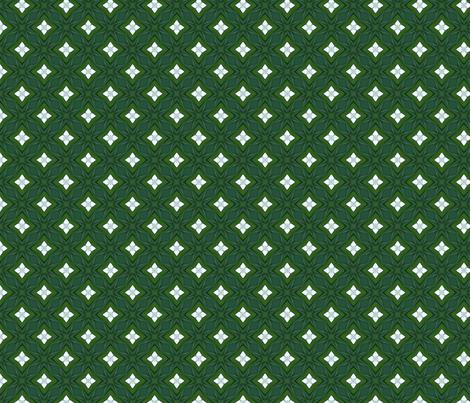 Green Diamonds and White Stars D-4