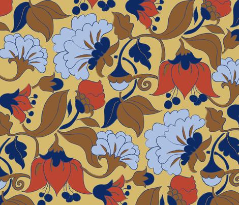 Fleurs_Nouvelles fabric by snowflower on Spoonflower - custom fabric