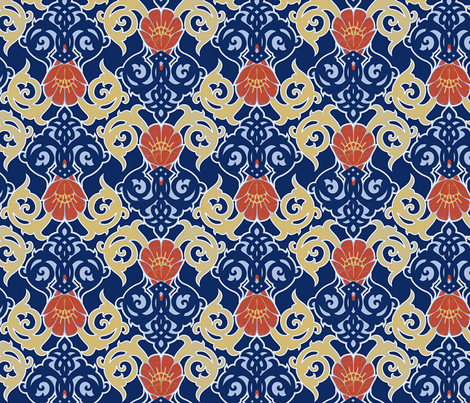Nouveau Riche fabric by locamode on Spoonflower - custom fabric
