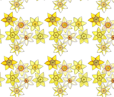 DaffyDownDilly fabric by wiccked on Spoonflower - custom fabric