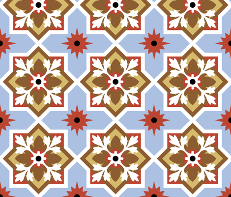 Terrace Nouveau fabric by meredithjean on Spoonflower - custom fabric