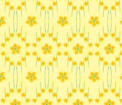 LH_Daffodil fabric by ldj_design on Spoonflower - custom fabric
