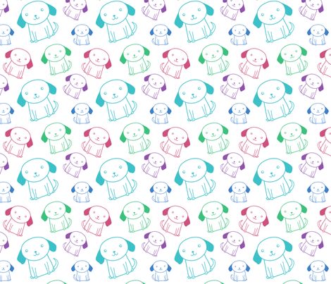 Bright Little Puppy fabric by zoel on Spoonflower - custom fabric