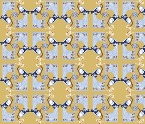 Art NouveauPeacock fabric by designmagi on Spoonflower - custom fabric