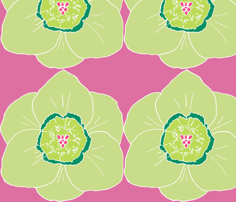 Daffodil party pink fabric by katrina_whitsett on Spoonflower - custom fabric