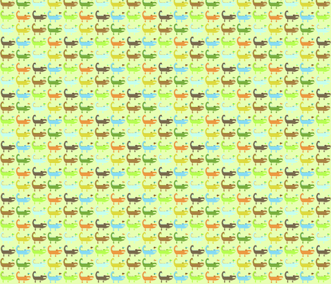 Argyle Alligators - rough colorway  fabric by petunias on Spoonflower - custom fabric
