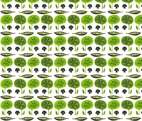 green_mushroom fabric by antoniamanda on Spoonflower - custom fabric