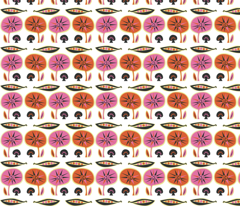 orange_mushroom fabric by antoniamanda on Spoonflower - custom fabric