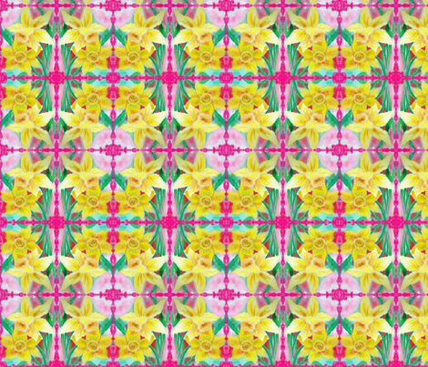 pink edge daffy fabric by buckysmom on Spoonflower - custom fabric
