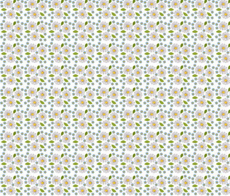 Forget-me Daisy! fabric by syko on Spoonflower - custom fabric