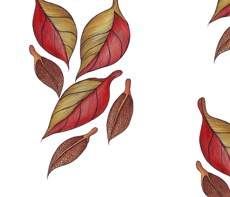 Autumn Leaves fabric by illusio on Spoonflower - custom fabric