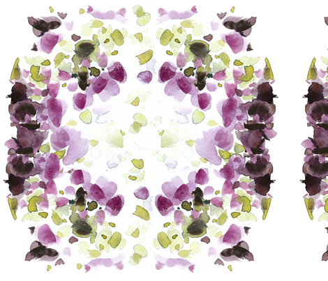 C'EST LA VIV Garden Lark Collection_HYDRANGEA COLORS  fabric by cest_la_viv on Spoonflower - custom fabric