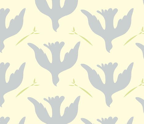 Peace fabric by linesmith on Spoonflower - custom fabric