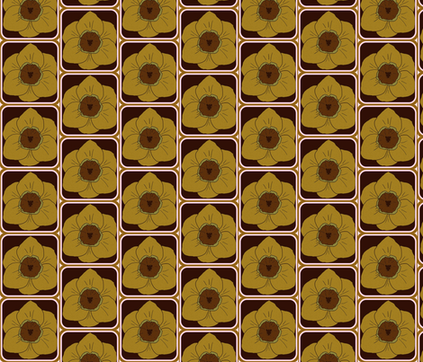 daffodil party coffee fabric by katrina_whitsett on Spoonflower - custom fabric