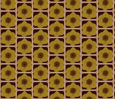 daffodil party coffee fabric by katrina_whitsett on Spoonflower - custom fabric