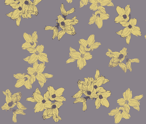 Dogwood Flowers fabric by j_brown on Spoonflower - custom fabric