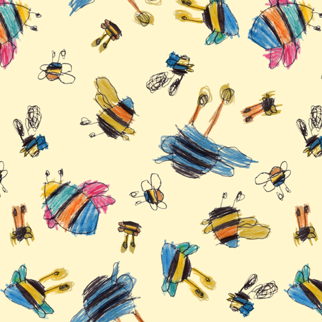 bubbie-bees fabric by weavingmajor on Spoonflower - custom fabric