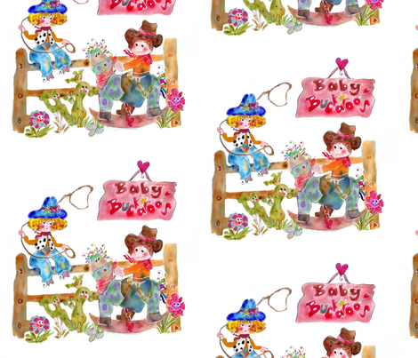 Baby Buckaroos by Rosanna Hope fabric by rosannahope on Spoonflower - custom fabric