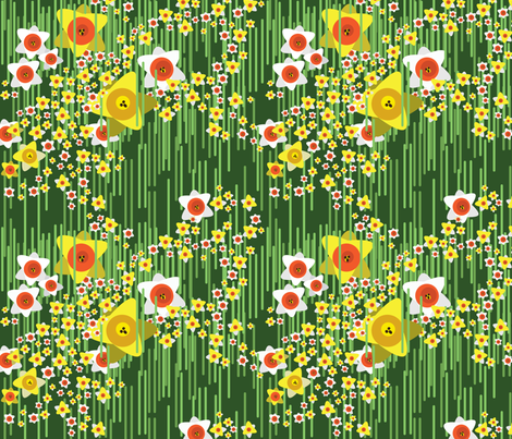 daffodil1 fabric by dolphinandcondor on Spoonflower - custom fabric