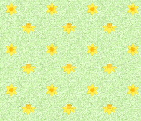 daffodil fabric by leighr on Spoonflower - custom fabric
